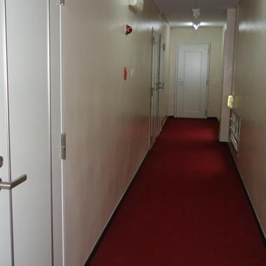 客室フロアのドア張りかえ