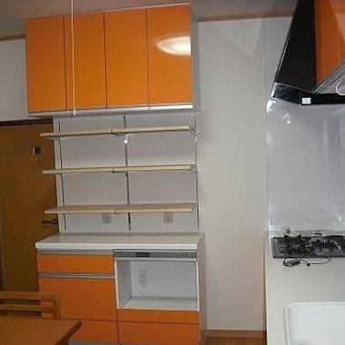 システムキッチンリフォーム後 収納スペース