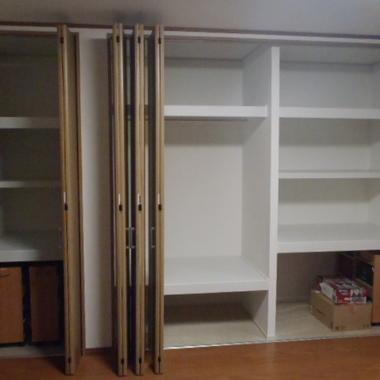 新規棚板造作