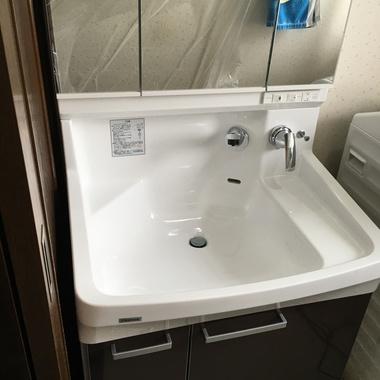 さいたま市中央区✕洗面所取り替え✕丁寧、迅速な工事の施工後写真(0枚目)