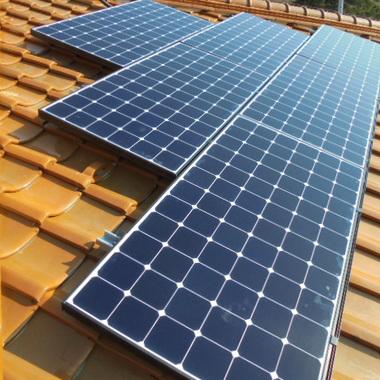 太陽光発電設置工事 アップ画像
