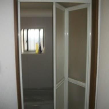 浴室のドアを交換後