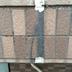 外壁にひび割れ補修途中