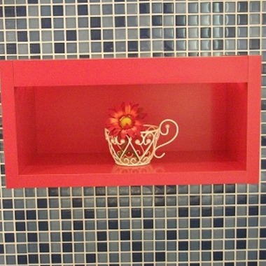 店舗改装工事 花とカップ
