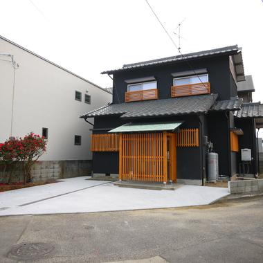 京の町家風の外構工事後