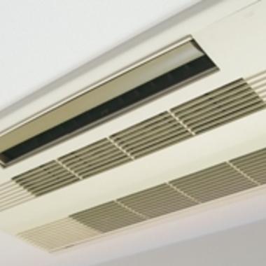 天井取り付け型エアコンのクリーニング