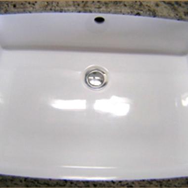 洗面台修復 ひび割れ・修理後
