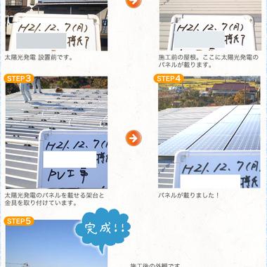 太陽光発電システム設置前と後