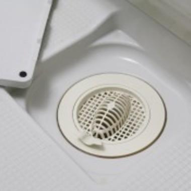 浴室排水溝の掃除 後