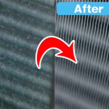 フィルター 洗浄前洗浄後比較