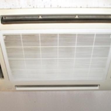 埋め込み式エアコン 洗浄後 簡易クリーニング