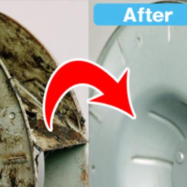 プロペラタイプ 換気扇 清掃前清掃後比較写真