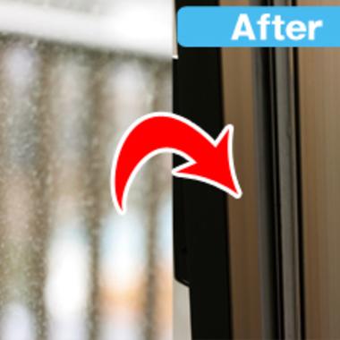 窓ガラス 洗浄前洗浄後比較写真
