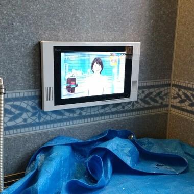 浴室テレビの交換後