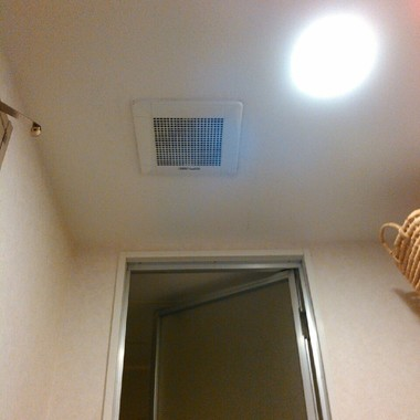 浴室換気扇の交換後