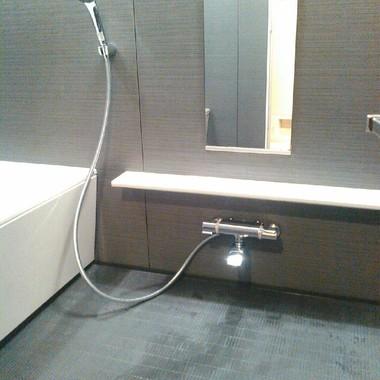 浴室水栓の交換後