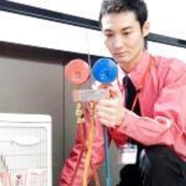 エアコン クーラー ガス補充作業1