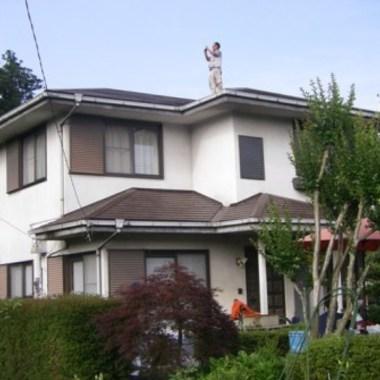 屋根葺き替え後 住宅外観