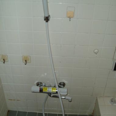 シャワー水栓を取り替え後
