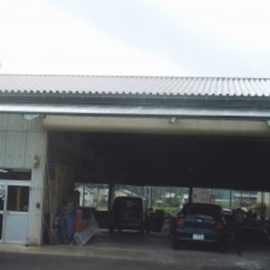 工場の折半屋根工事後