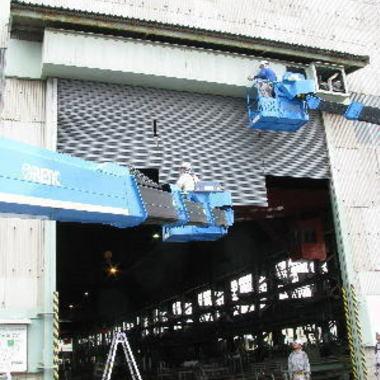 工場・倉庫用 重量電動シャッター取付工事