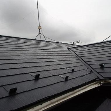 屋根塗装・雨樋交換工事完了 屋根