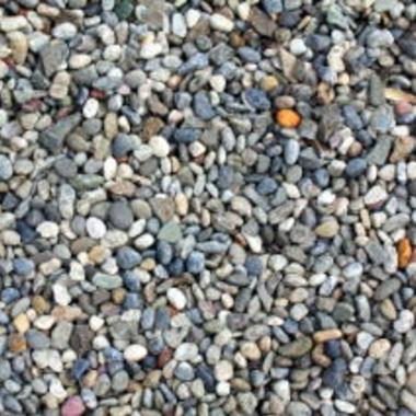 砂利敷き作業