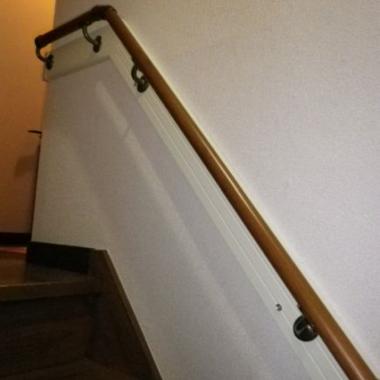 階段の手すり取付工事