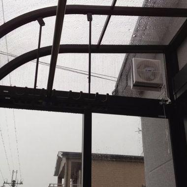 雨の日も安心のサンルーム