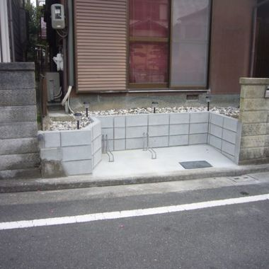 駐輪スペースの拡張工事