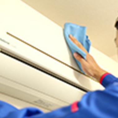 エアコン壁掛けタイプクリーニング風景 エコ洗浄 5