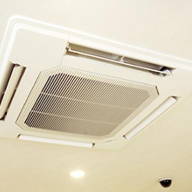 エアコン天井埋込タイプクリーニング後 簡易洗浄