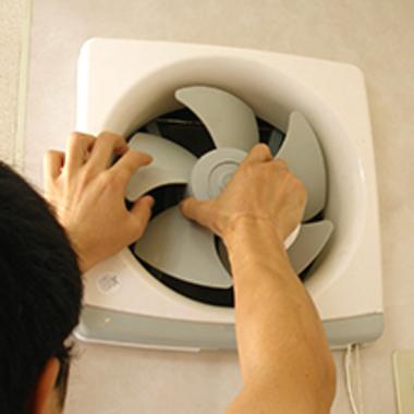 換気扇クリーニング作業中 5