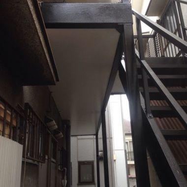 外階段の鉄部修理完了