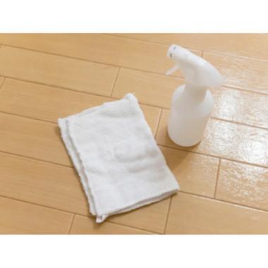 滑り止め施工 SGS 完了 霧吹き 雑巾