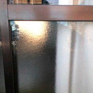 修理したガラス窓