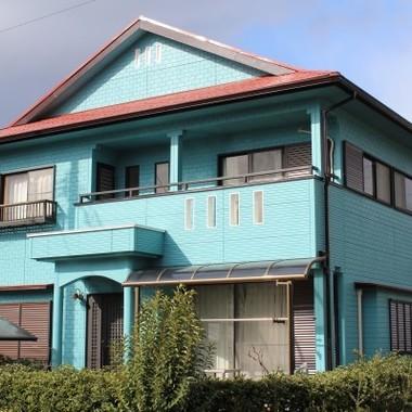 外装塗装後の住宅外観