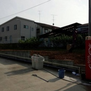 フェンス撤去後の敷地