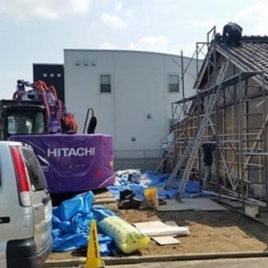 住宅切離し箇所の外壁補修工事
