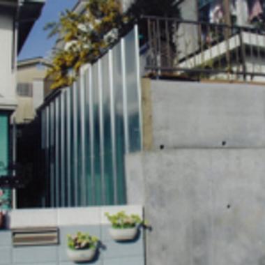 擁壁工事後のブロック