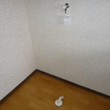 設置工事後の室内洗濯機置き場