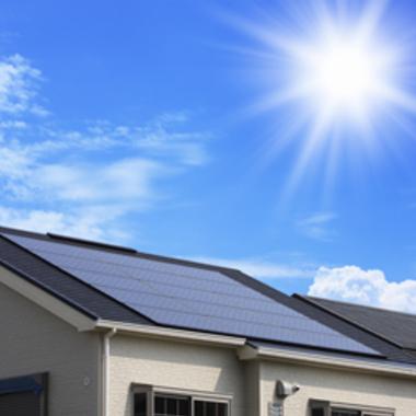 太陽光パネル設置した屋根