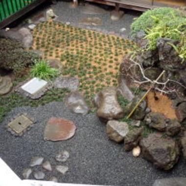 施工後の日本庭園 上から