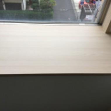 塗装完成後の 出窓カウンター2