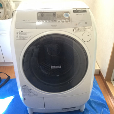 クリーニング後 ドラム型洗濯機