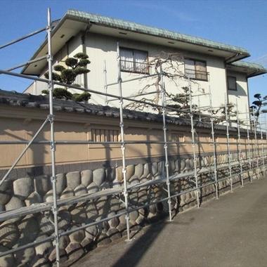 外壁塗装後 住宅外観・塀