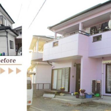 外壁塗装 無機質塗料に変更 前と後