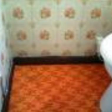 ウォシュレット取付工事後のトイレ