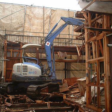 木造住宅解体工事 作業中