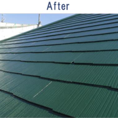 屋根遮熱塗装 施工後